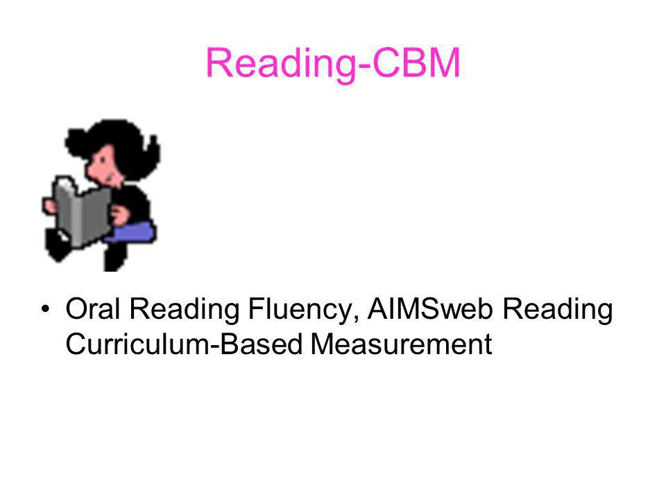Reading-CBM Oral Reading Fluency, AIMSweb Reading Curriculum-Based Measurement