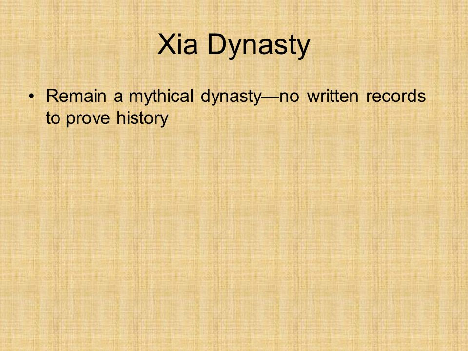 the xia dynasty essay Xia dynasty essay 4660 words | 19 pages the xia dynasty overview there are ancient accounts about the history of a small kingdom along the yellow river that existed from.
