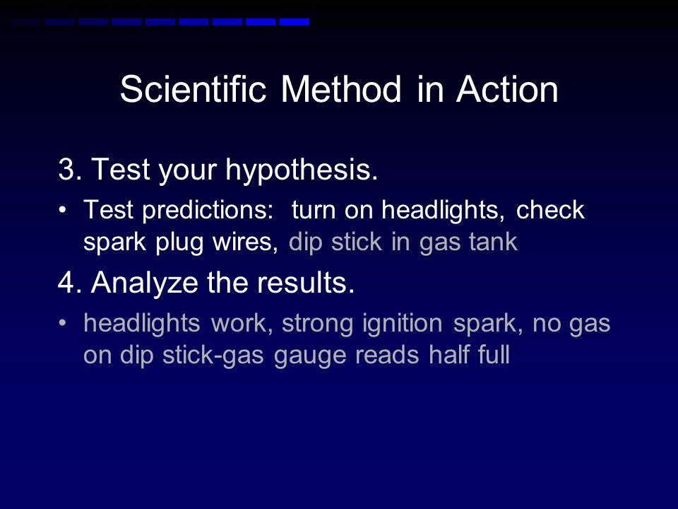 Scientific Method in Action