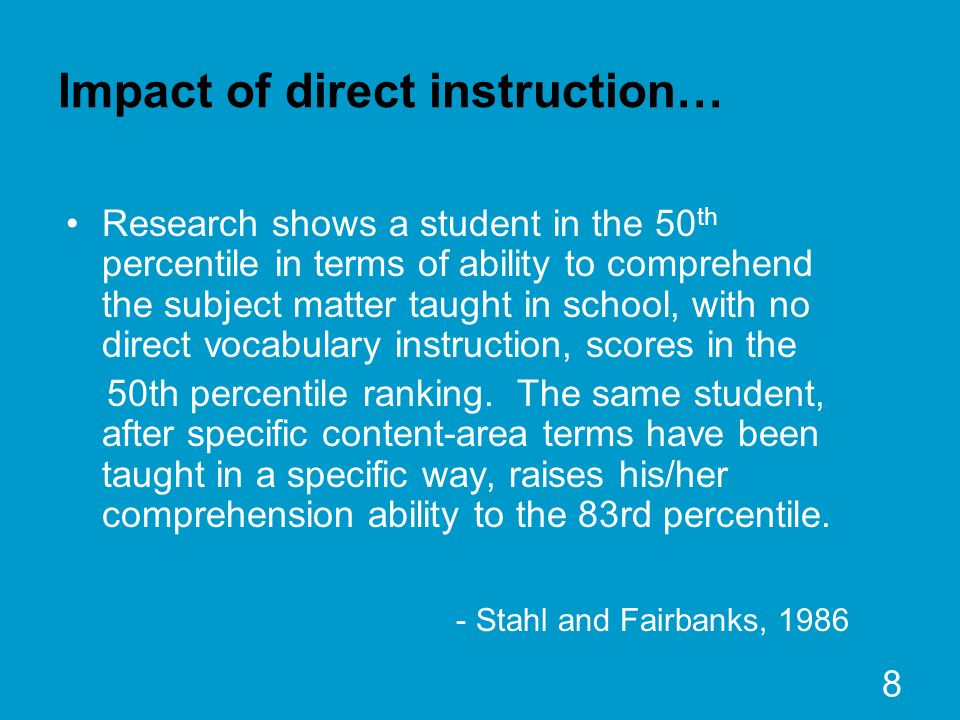Impact of direct instruction…