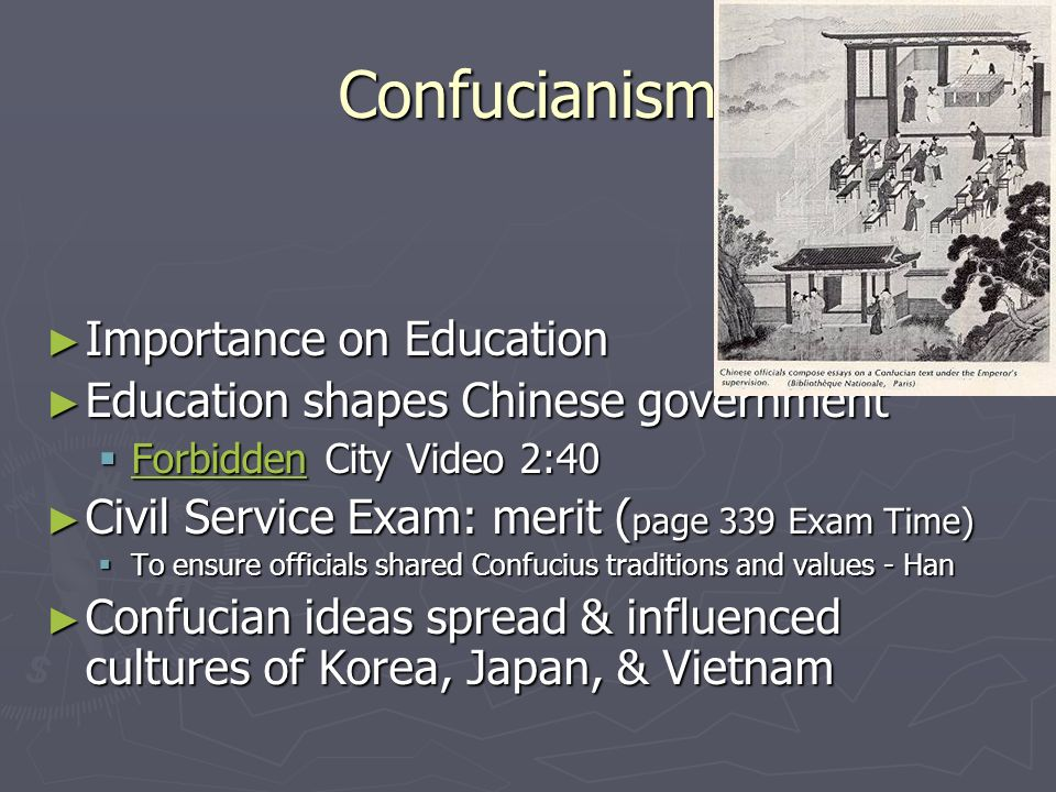 Confucianism Importance on Education
