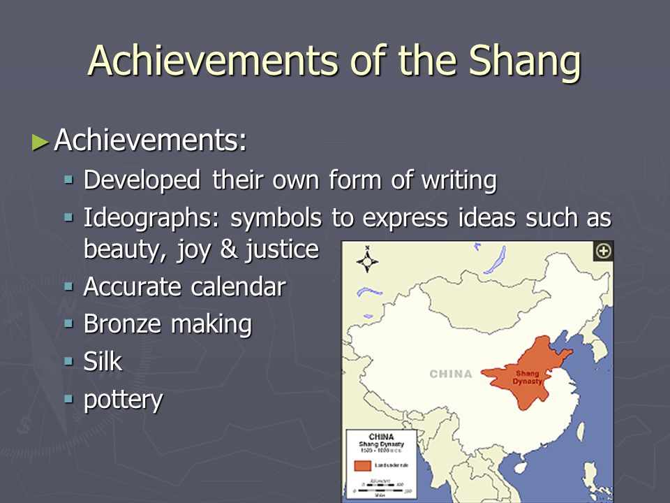 Achievements of the Shang
