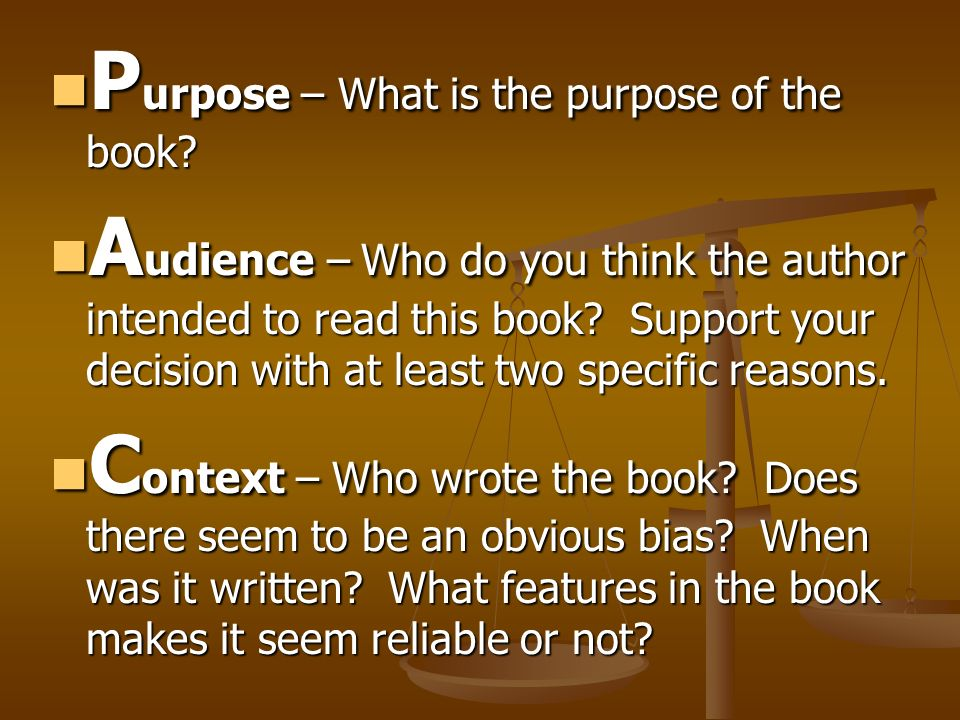 Purpose – What is the purpose of the book