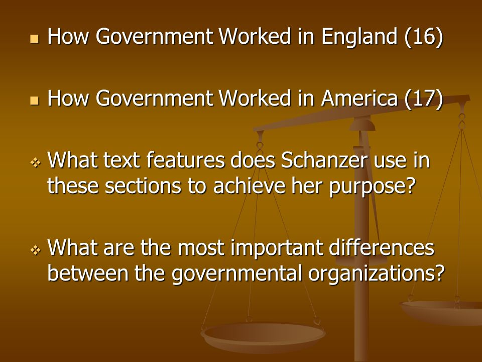 How Government Worked in England (16)