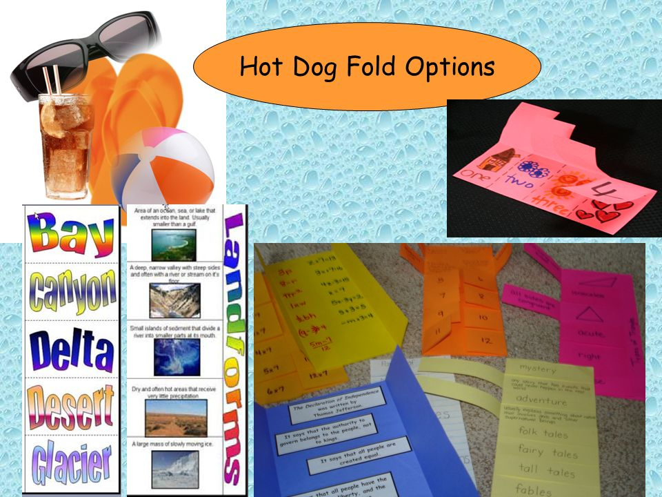 Hot Dog Fold Options