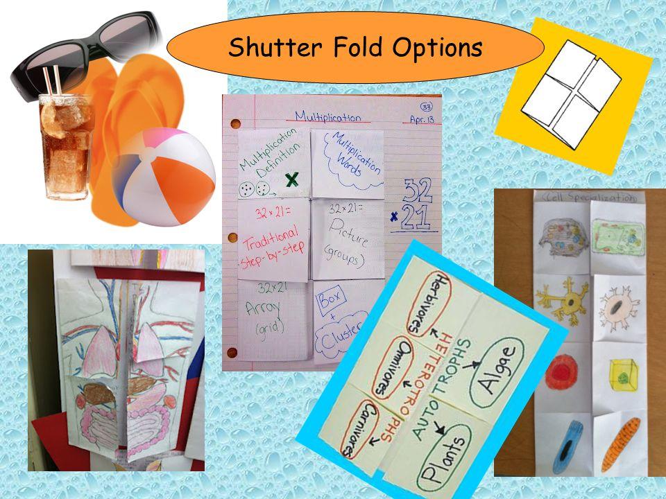 Shutter Fold Options
