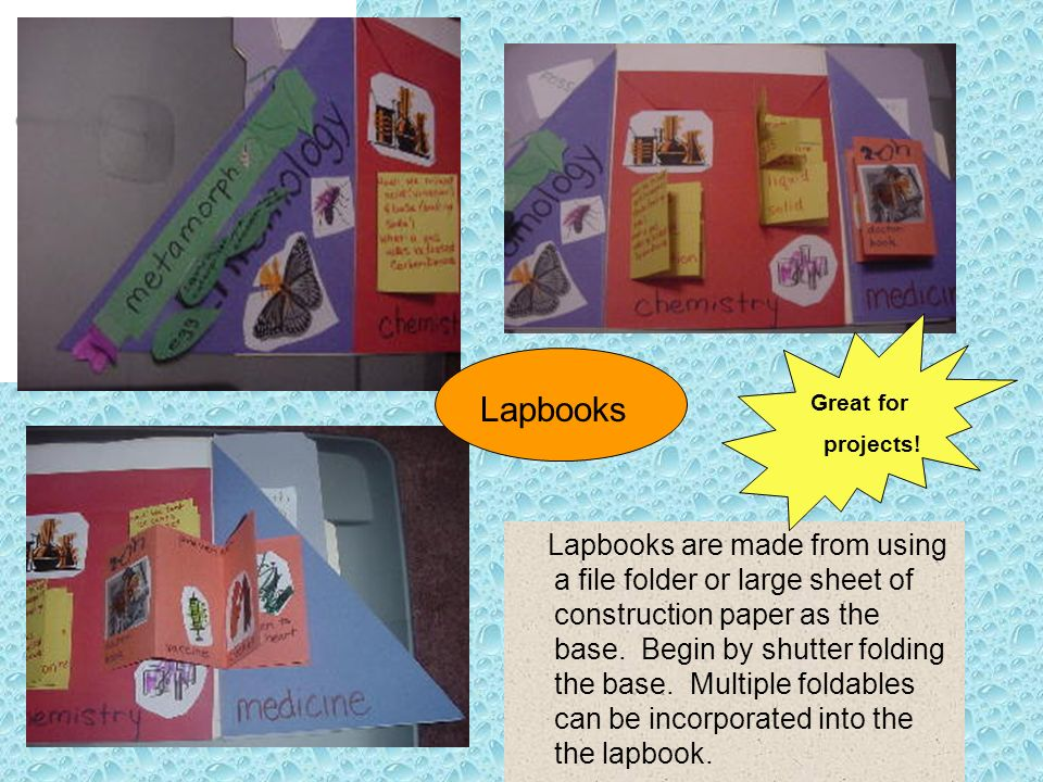 Lapbooks Great for. projects!