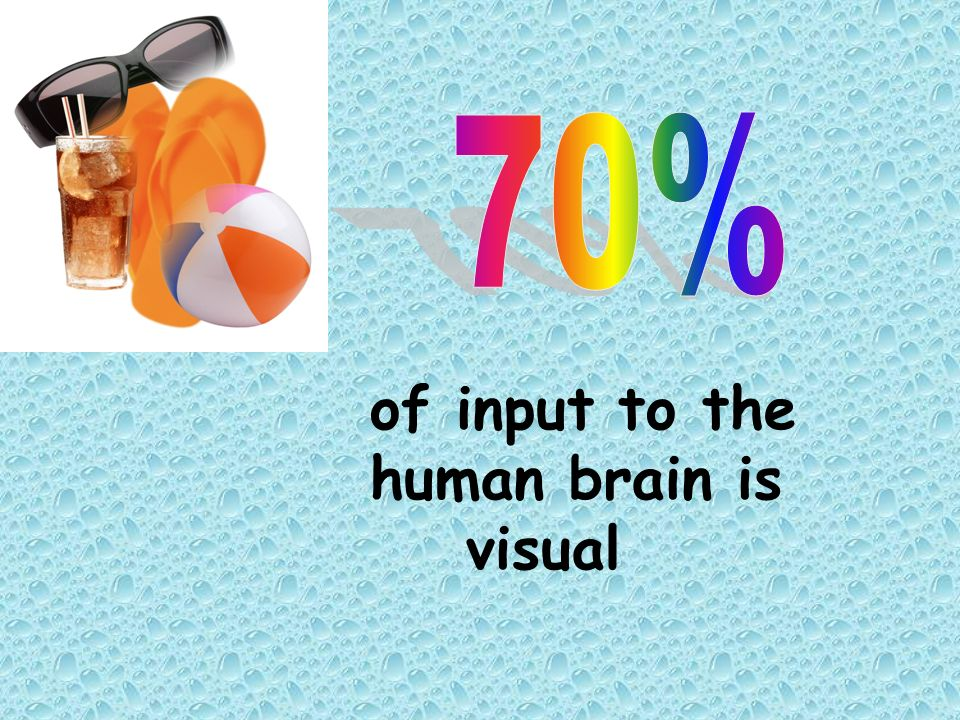 70% of input to the human brain is visual