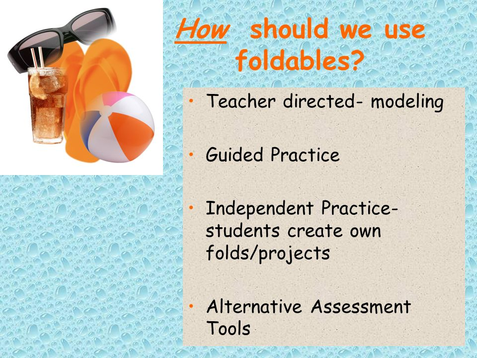How should we use foldables