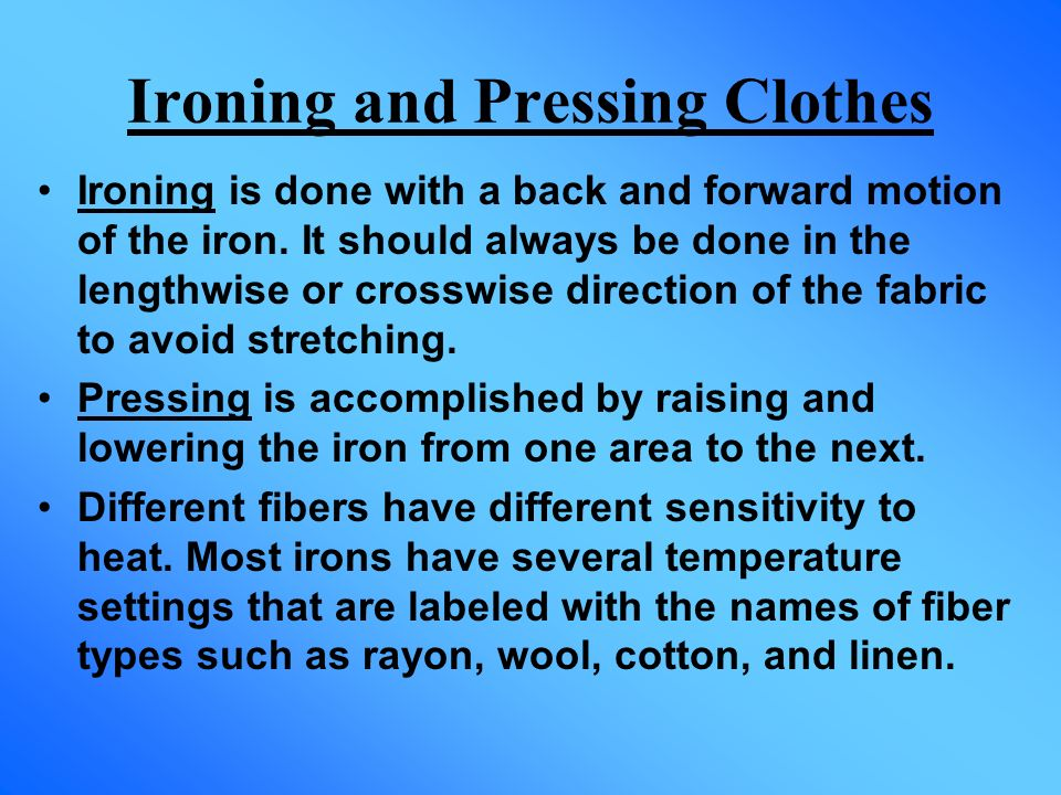 Ironing and Pressing Clothes