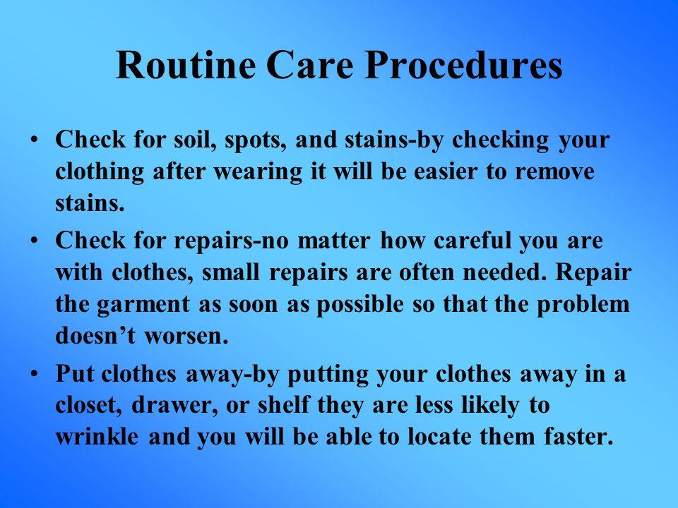 Routine Care Procedures