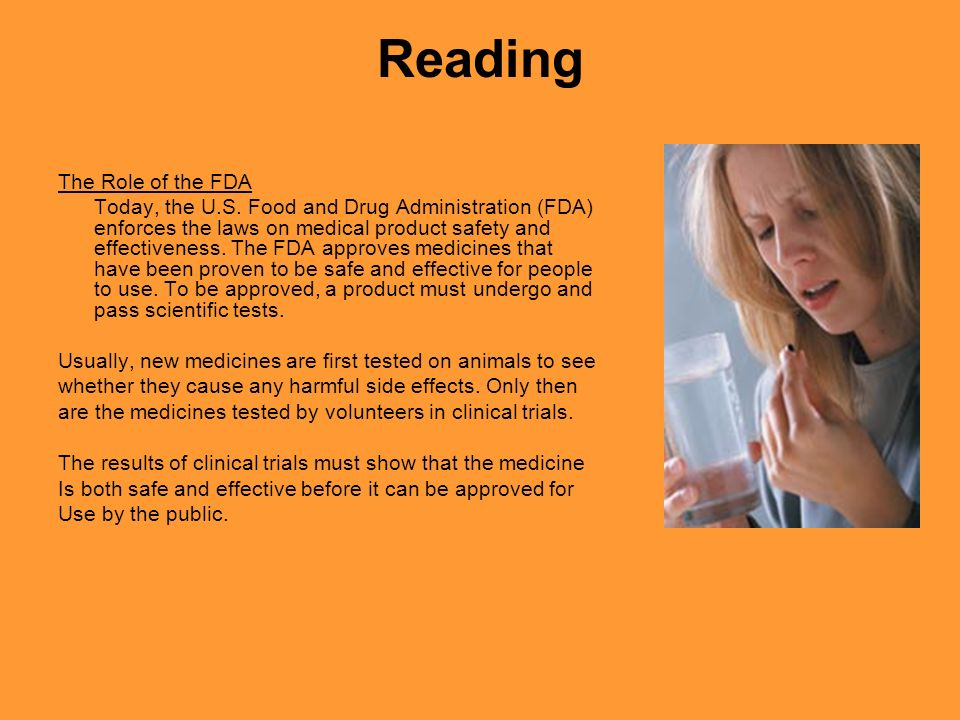 Reading The Role of the FDA