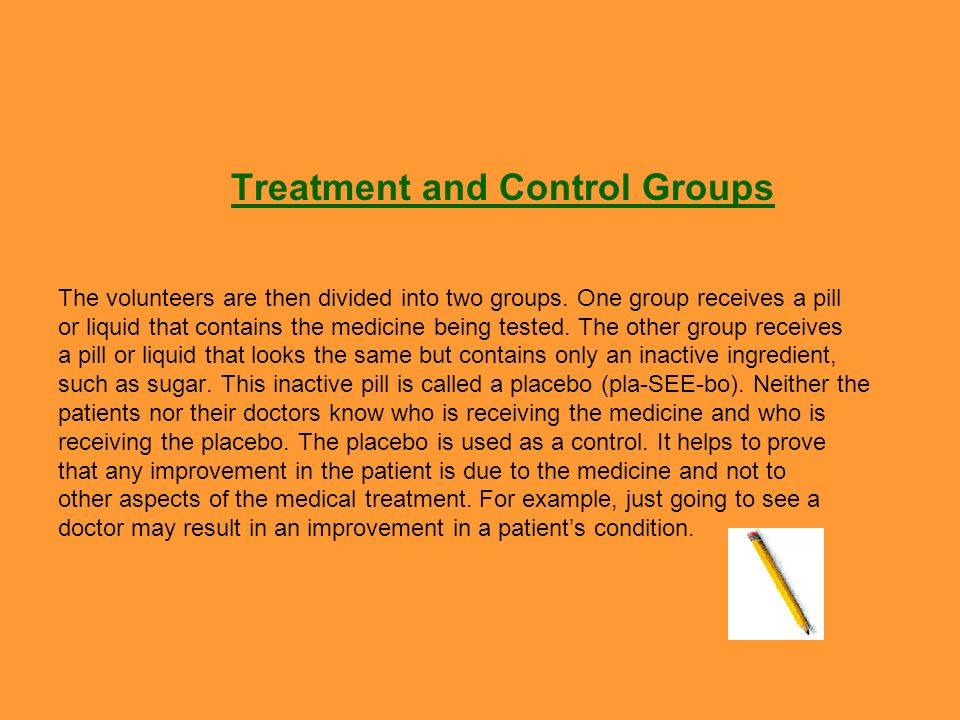 Treatment and Control Groups