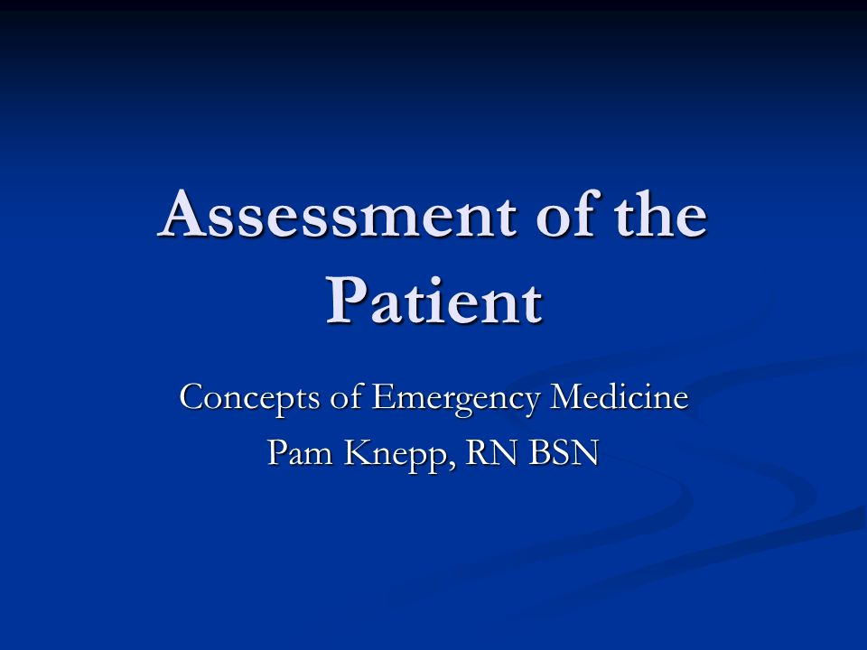 assessment of patient