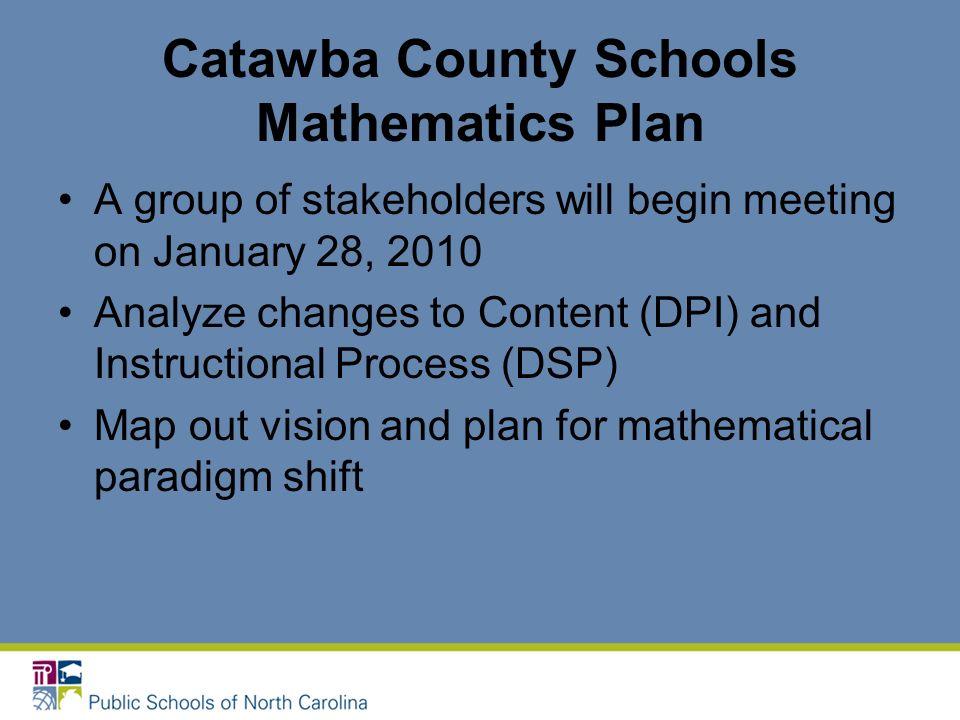 Catawba County Schools Mathematics Plan