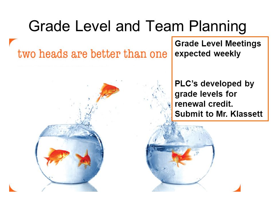 Grade Level and Team Planning
