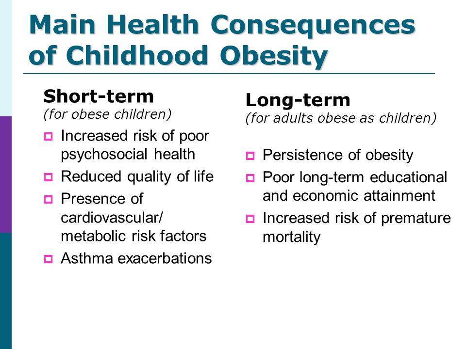 Childhood obesity a result of bad