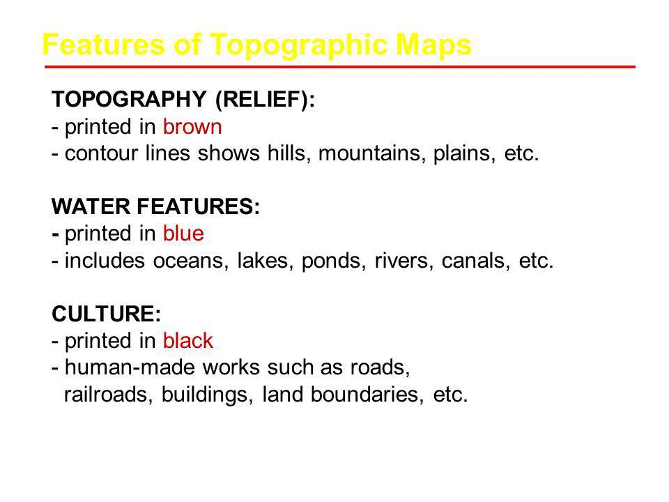 Features of Topographic Maps