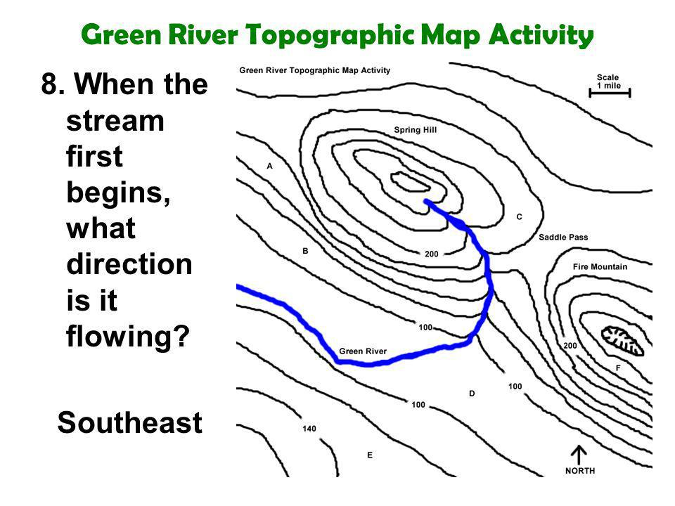 Green River Topographic Map Activity