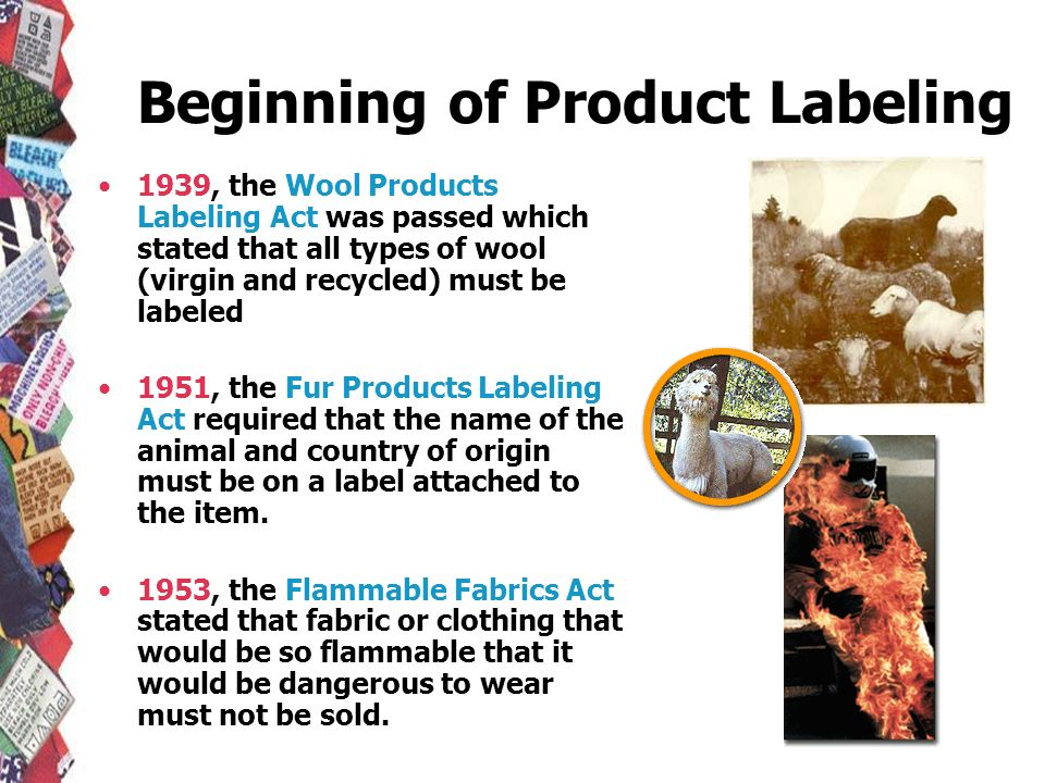 Beginning of Product Labeling