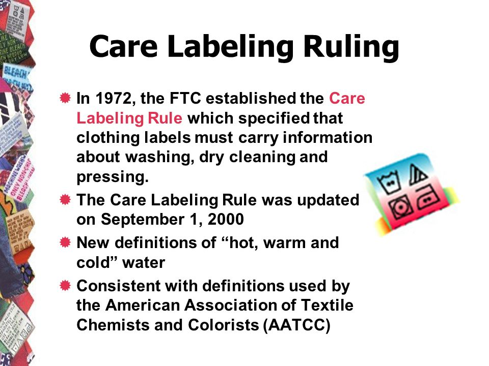 Care Labeling Ruling