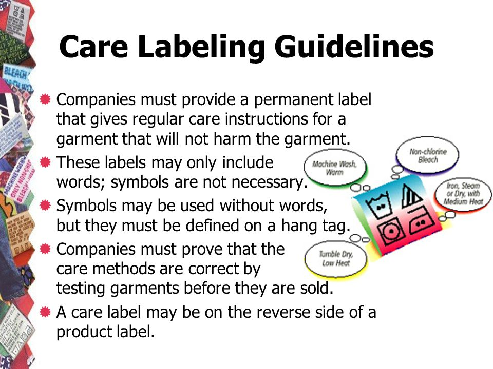 Care Labeling Guidelines