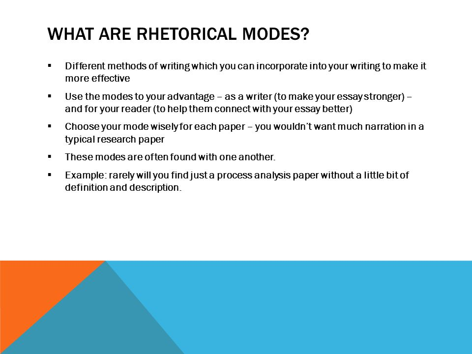 Rhetorical forms of the essay