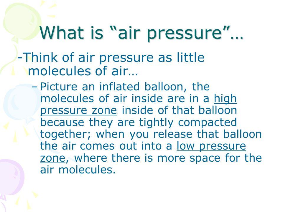What is air pressure …