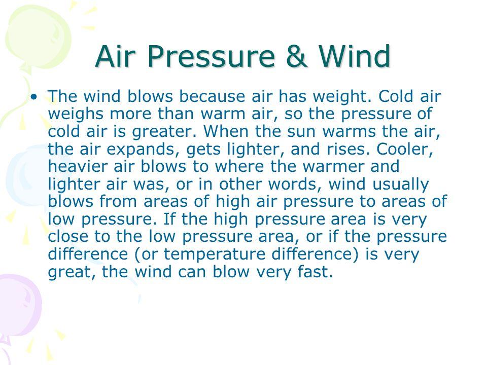 Air Pressure & Wind