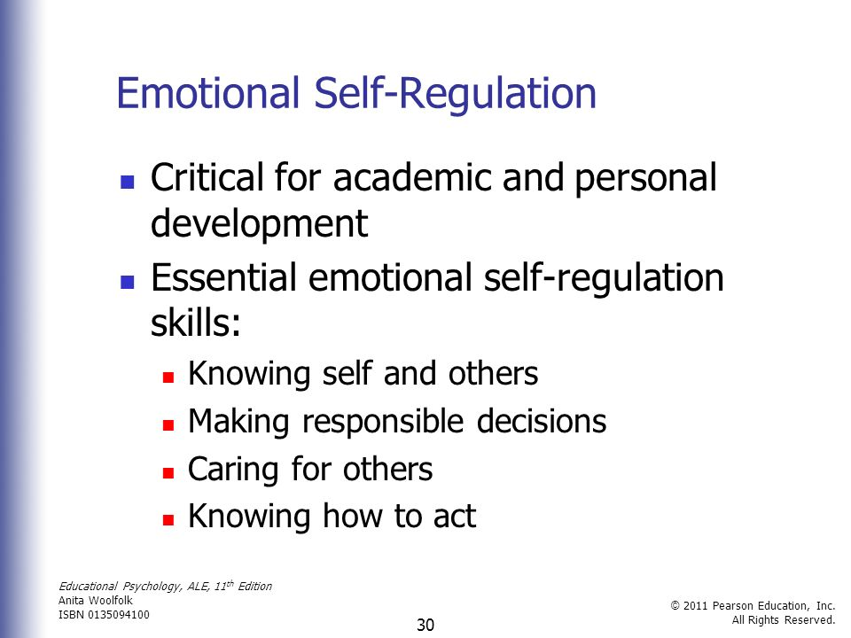 childrens development of emotional self regulation essay Below is a chart that highlights how infants and toddlers develop social-emotional skills at have a knowledge of child development emotional self-regulation.