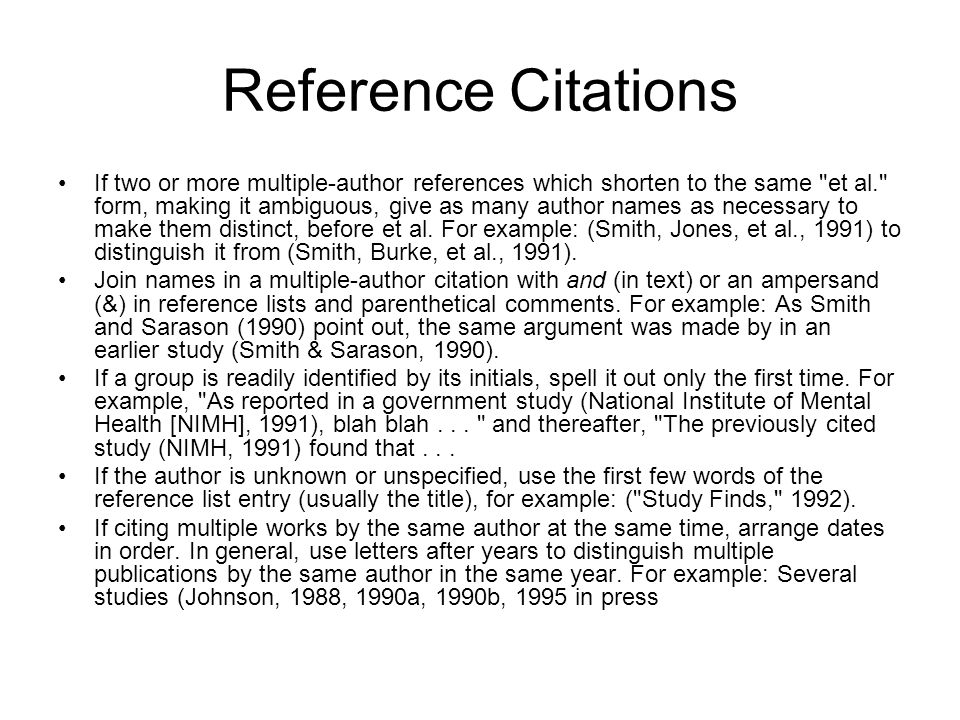 Reference Citations