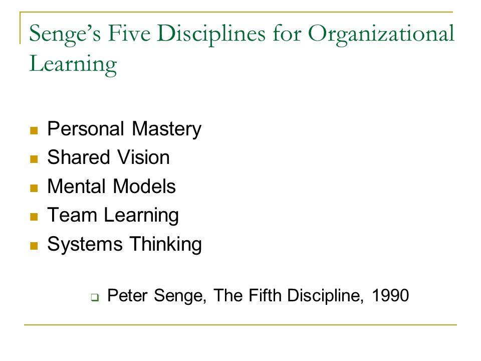 Senge's Five Disciplines for Organizational Learning