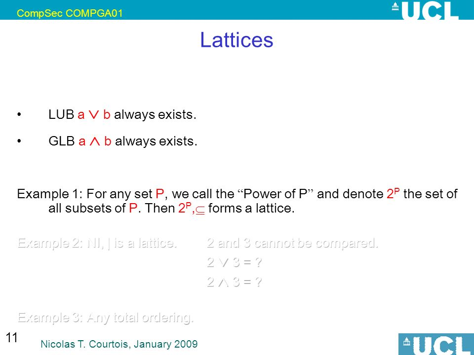 Lattices confidentiality blp ppt video online download lattices lub a b always exists glb a b always exists ccuart Choice Image