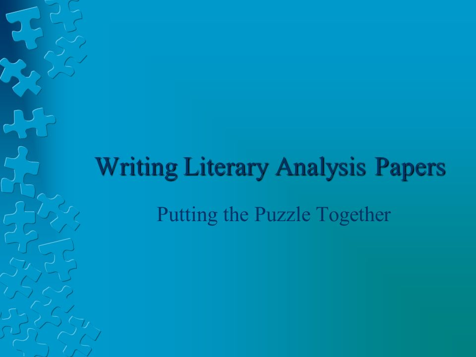 this is a literary analysis paper A literary analysis essay example and more a literature essay definition as a rule, most sources have the following definition of literary essays as.