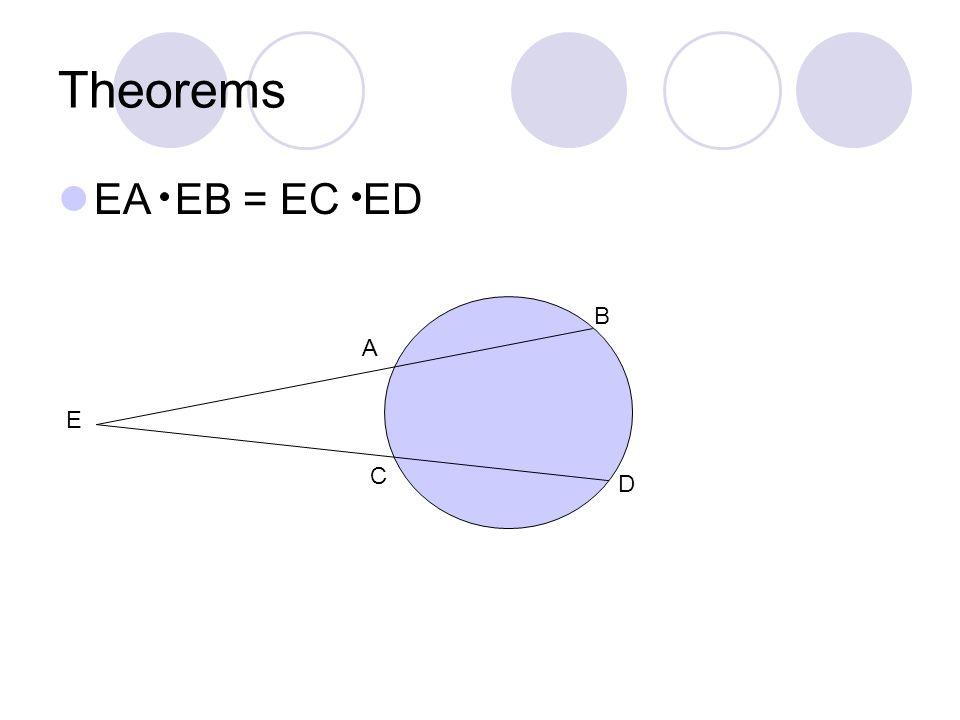 Theorems EA EB = EC ED B A E C D