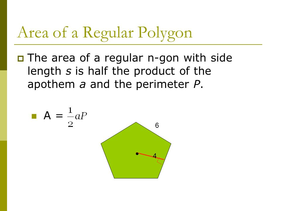 Area of a Regular Polygon