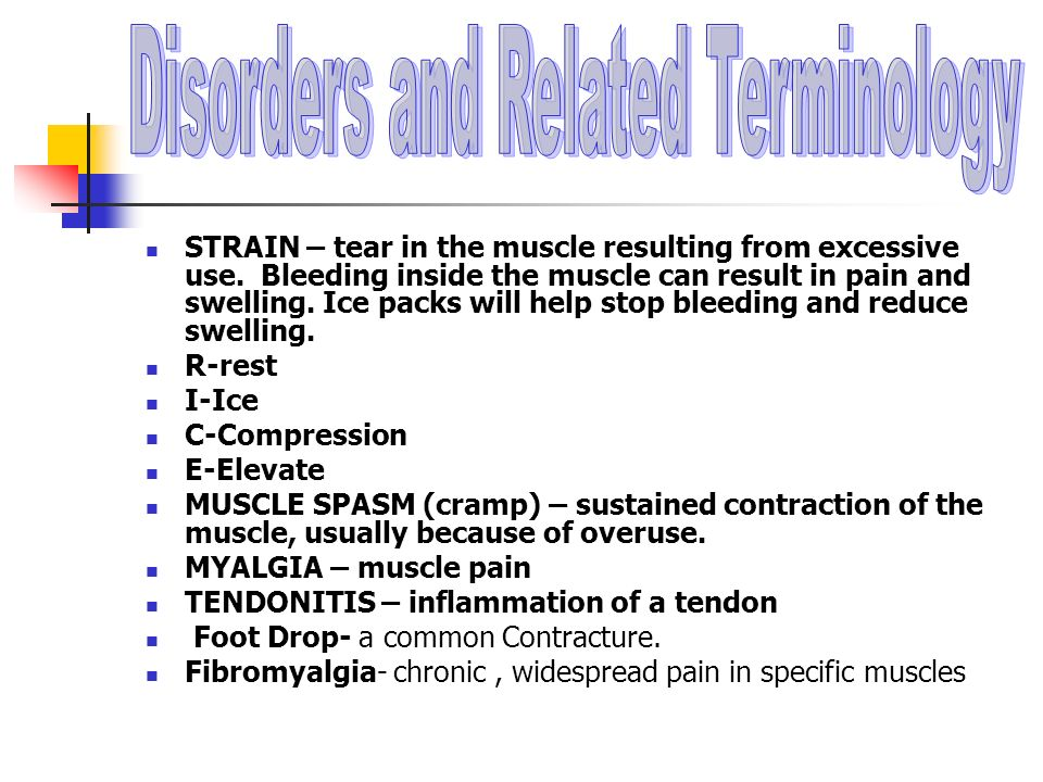Disorders and Related Terminology