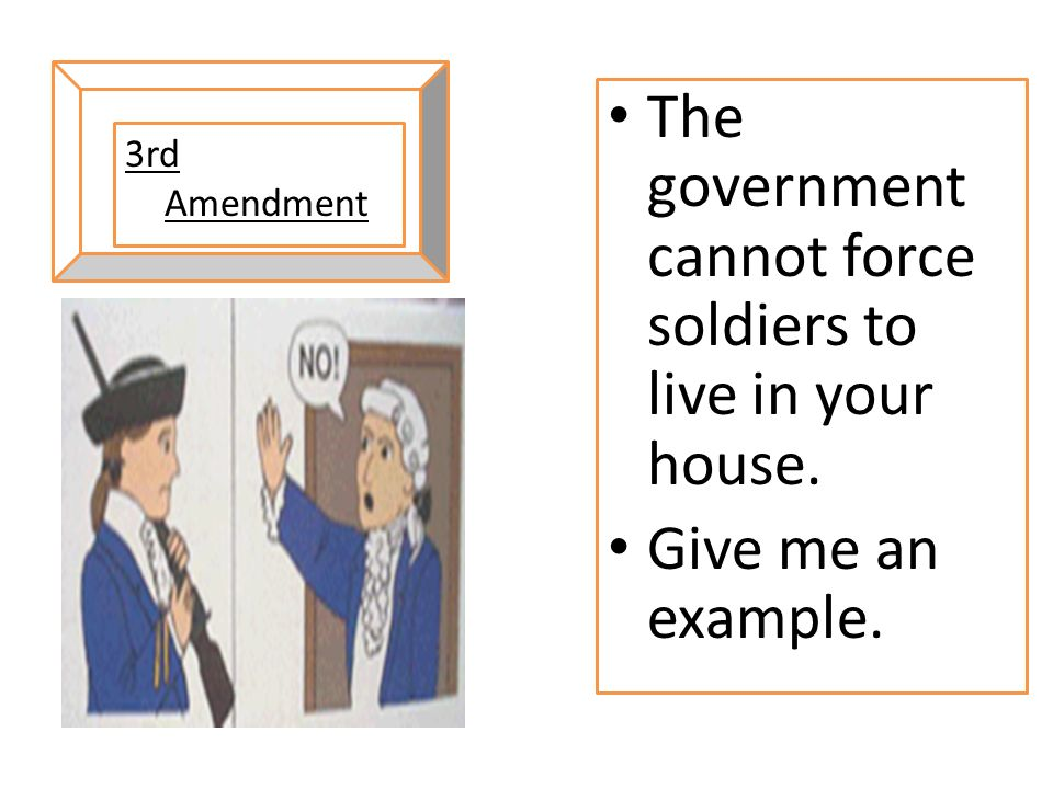 The government cannot force soldiers to live in your house.