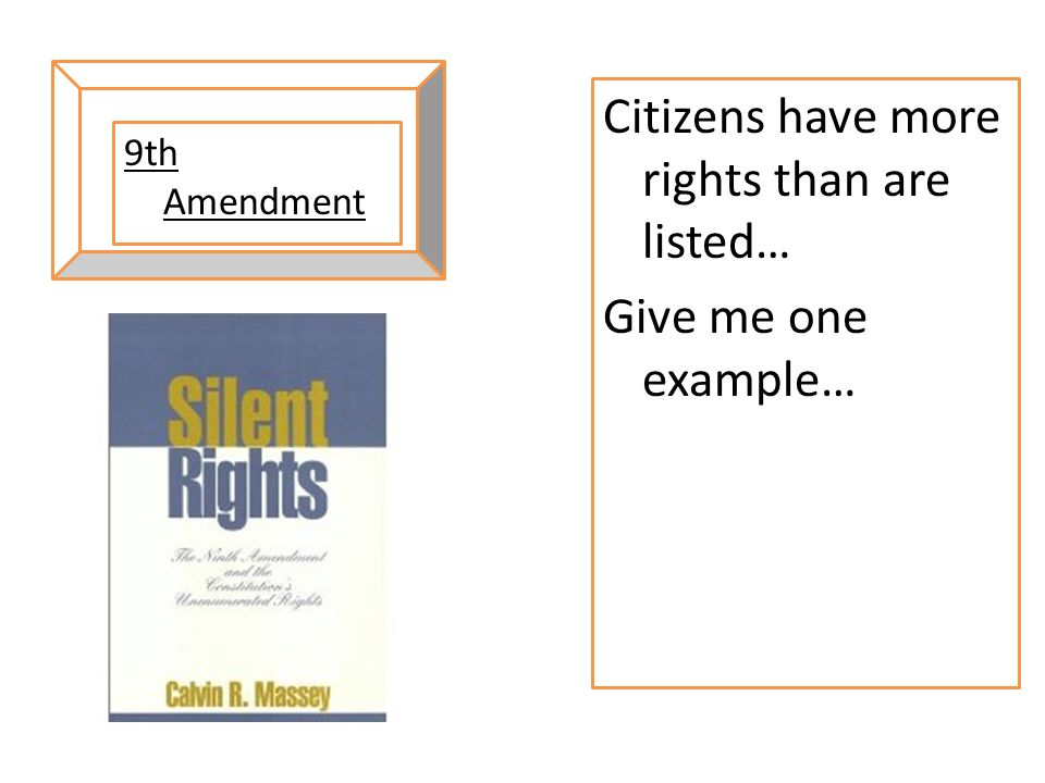 Citizens have more rights than are listed… Give me one example…