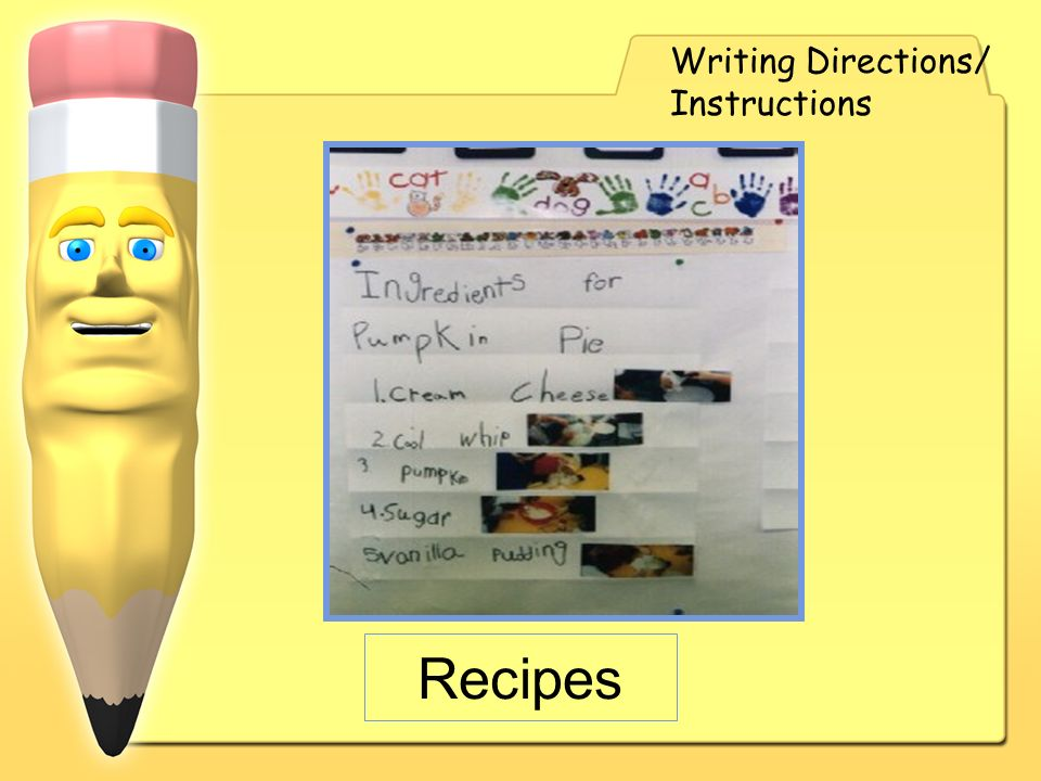 Writing Directions/ Instructions Recipes