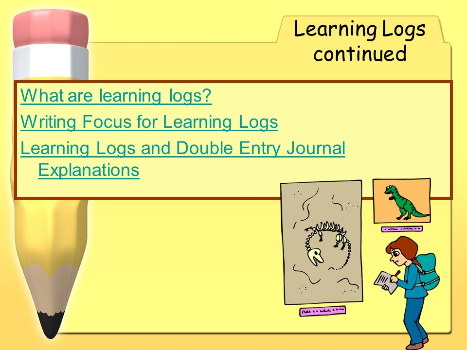 Learning Logs continued