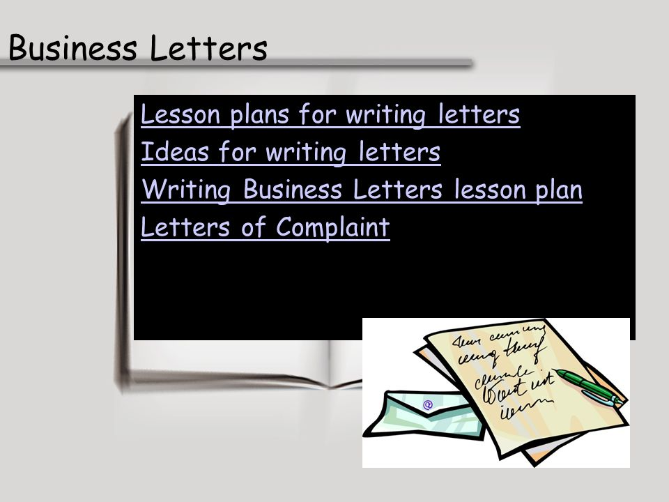 Business Letters Lesson plans for writing letters