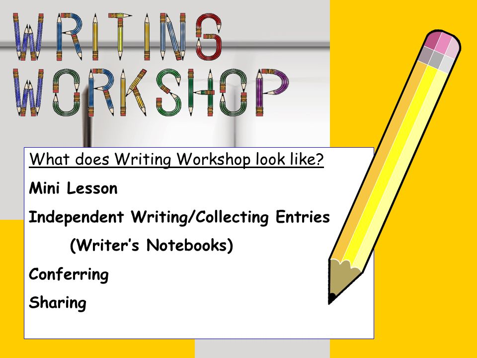 What does Writing Workshop look like