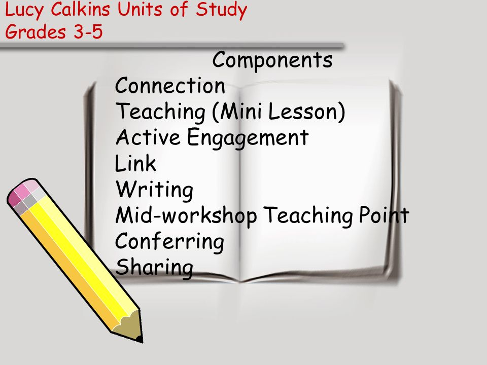 Lucy Calkins Units of Study Grades 3-5