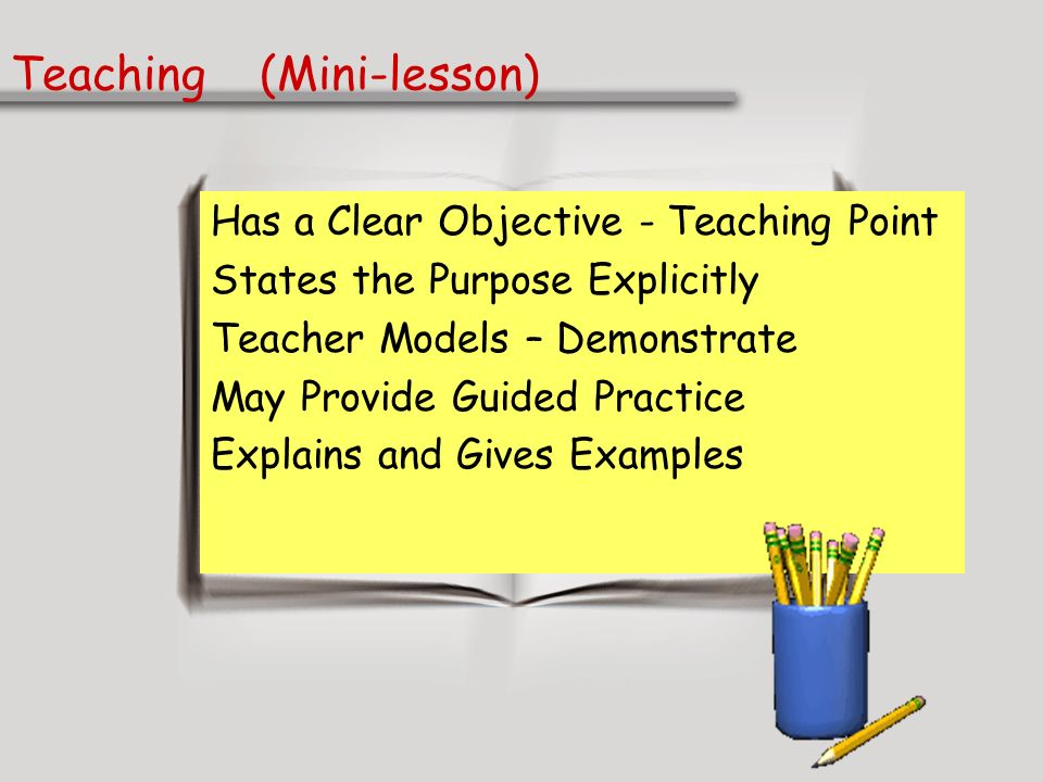 Teaching (Mini-lesson)