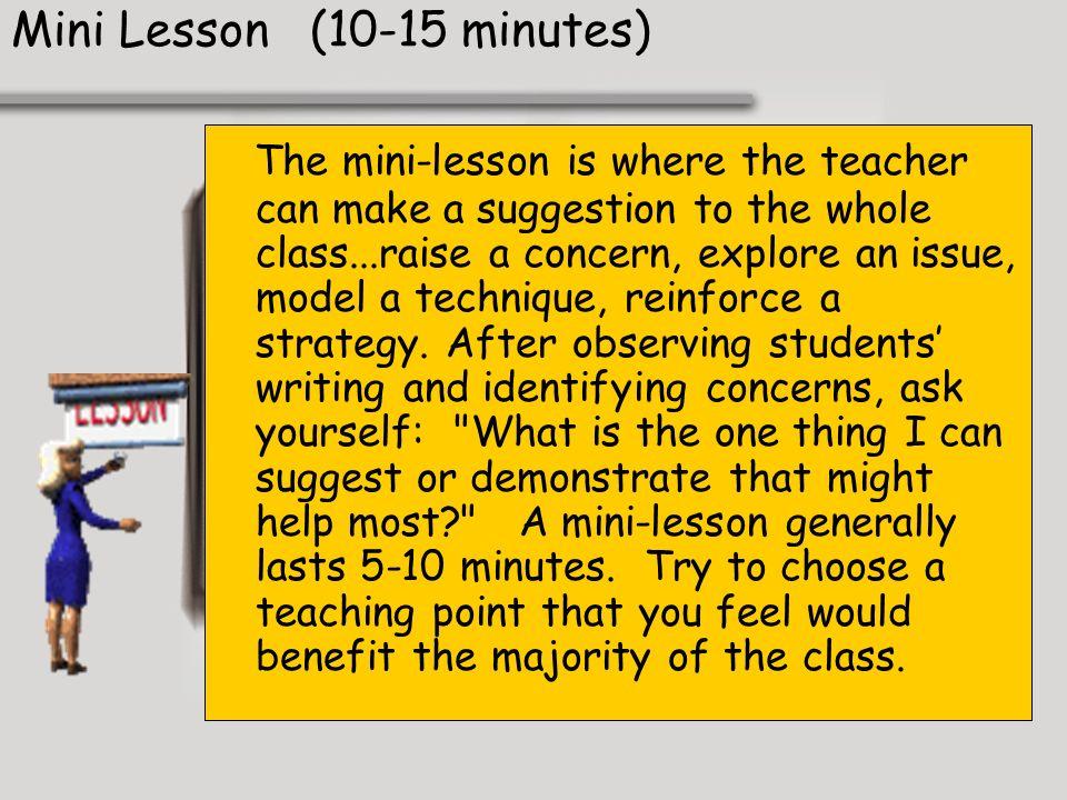 Mini Lesson (10-15 minutes)