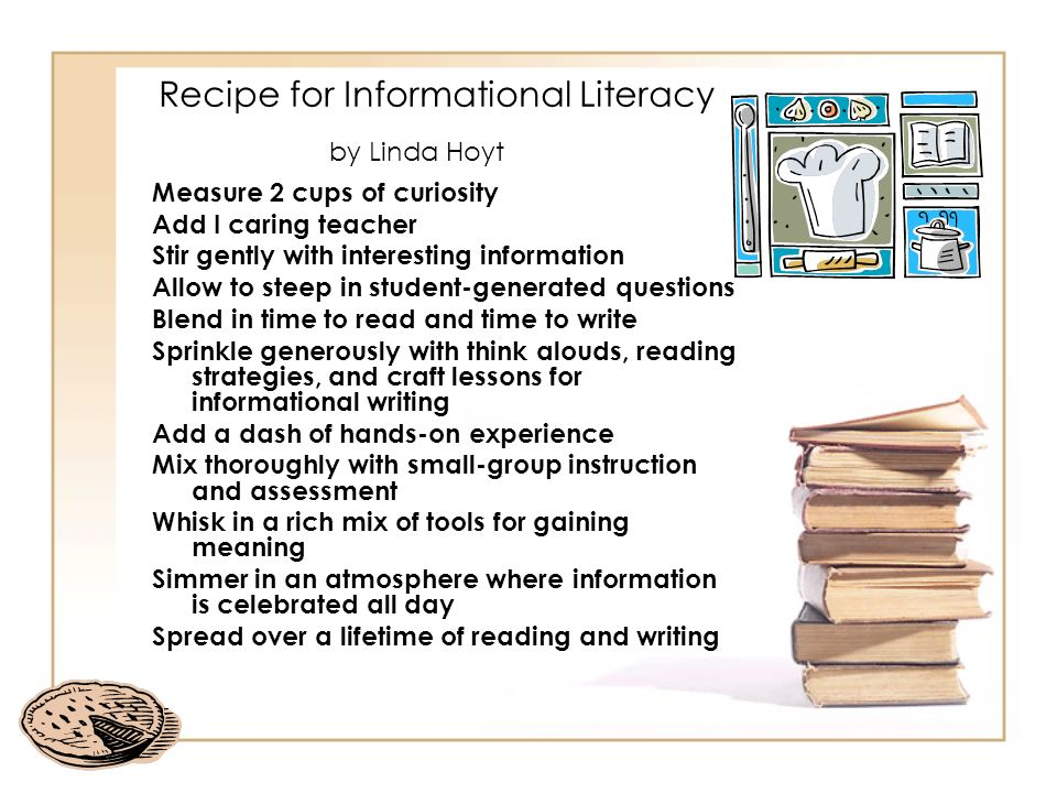 Recipe for Informational Literacy by Linda Hoyt