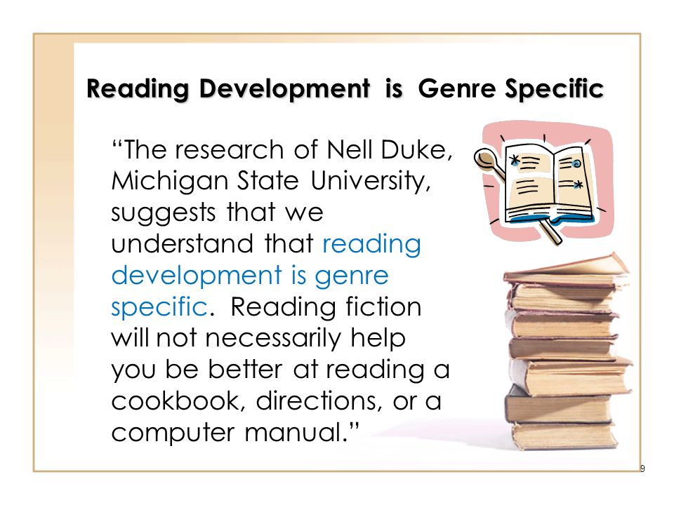 Reading Development is Genre Specific
