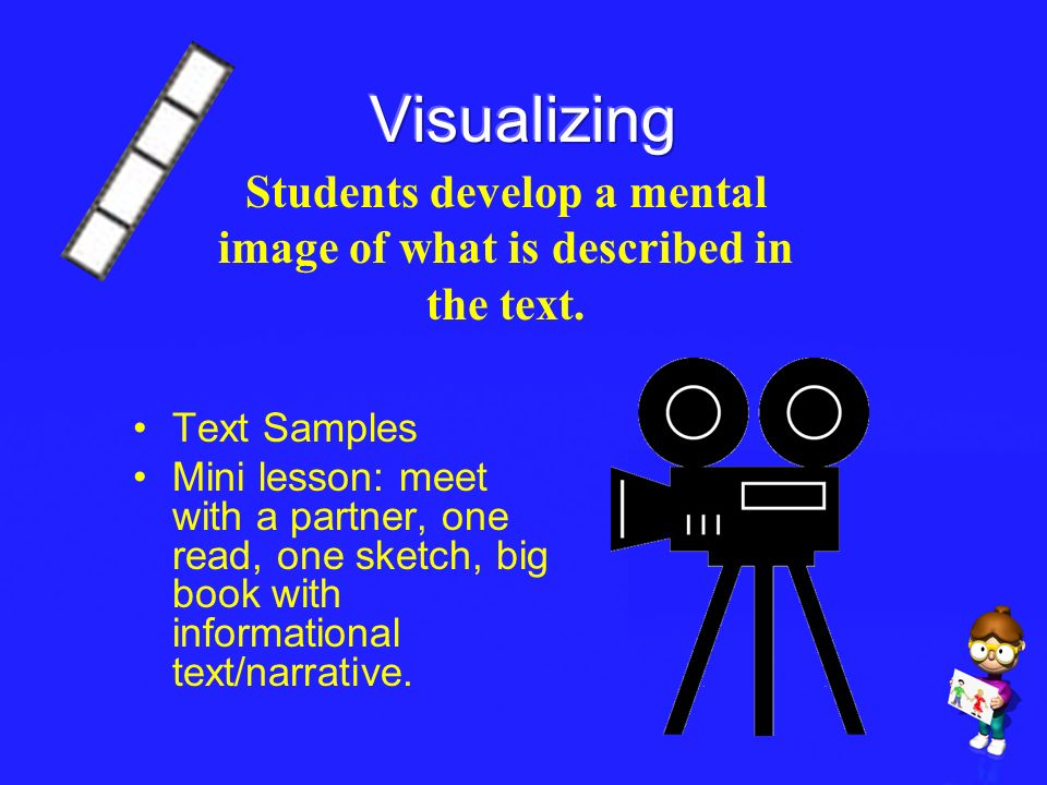 Students develop a mental image of what is described in the text.