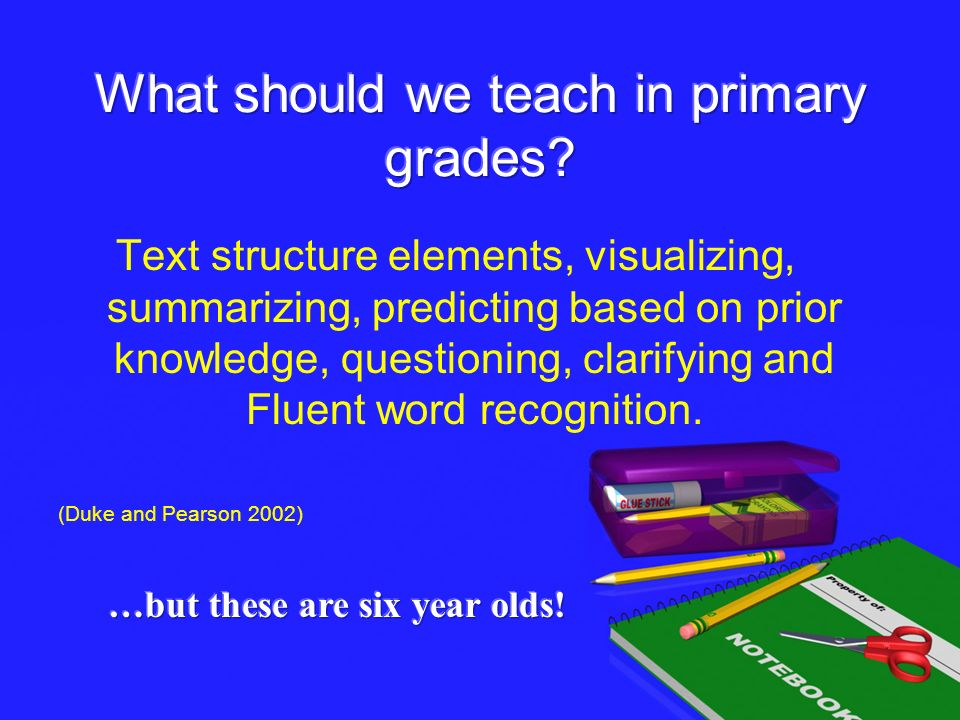 What should we teach in primary grades